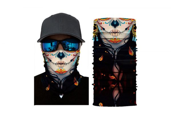 Masca tip bandana esarfa protectoare 3D Dias De Los Muertes
