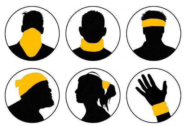Masca tip bandana esarfa protectoare 3D Metode de prindere