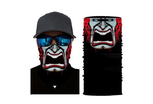 Masca tip bandana esarfa protectoare 3D Scream Face