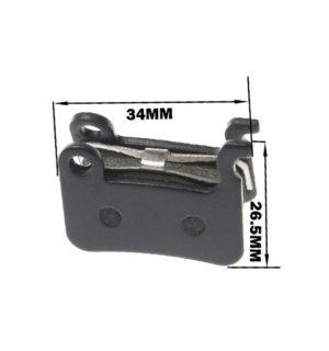Placute de frana 34×26.5 mm