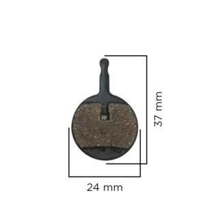 Placute de frana 24×37 mm